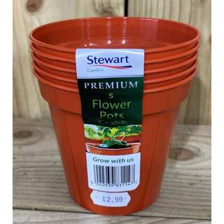 "10cm (4"") Flower Pot x5 (Multi-Packs)"