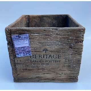 19cm Heritage Oak Pot - Engraved