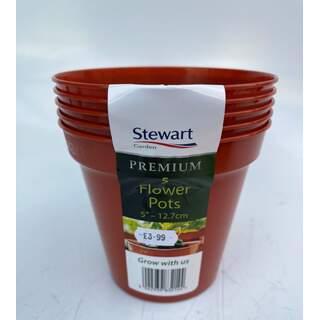 """12.7cm (5"""") Flower Pot x5 (Multi-Packs)"""