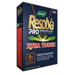 Resolva Pro Weedkiller Liquid Sachets Xtra Tough 6 x 100ml