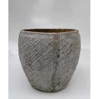 19cm Twill Pot - White
