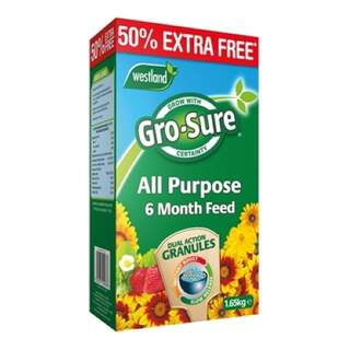 Gro-Sure 6 Month Slow Release Plant Food 1.1kg + 50% Extra Free