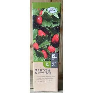 Garden Netting - Green 15mm Mesh 2 x 10m