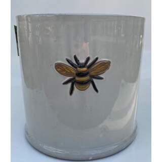 18cm Wisteria Pot - White