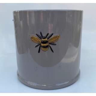 18cm Wisteria Pot - Grey